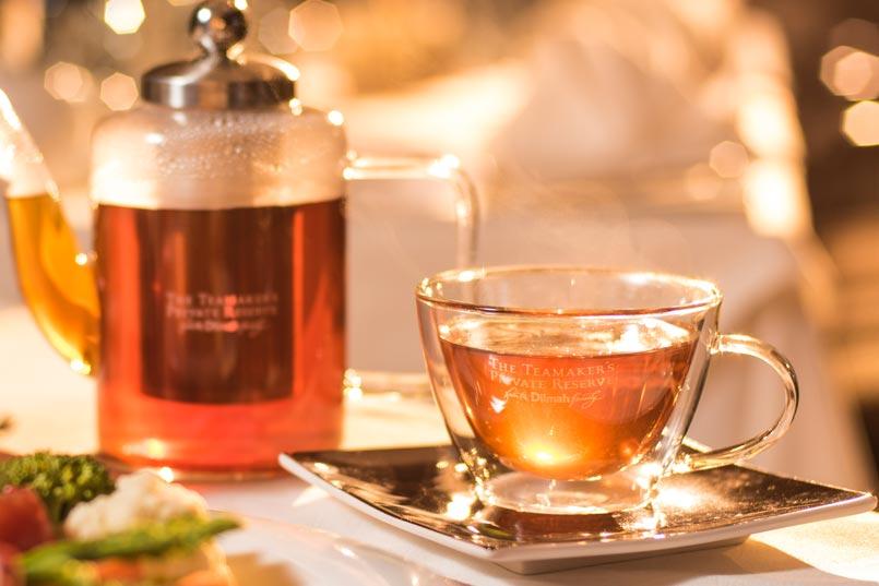 A glass tea set